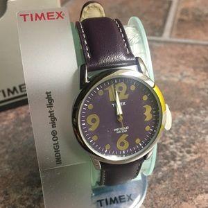 Timex New ladies/women leather purple watch